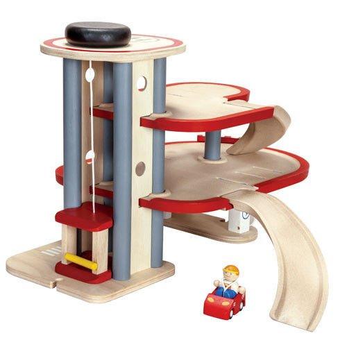 Drewniany Piętrowy Parking Garaż Plan Toys Plto 6611 Zabawki