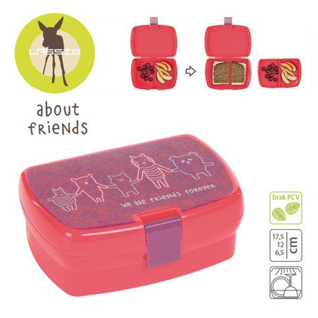 Lassig Lunchbox About Friends różowy