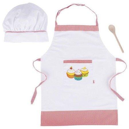 Akcesoria kucharza - fartuch czapka łyżka, Goki