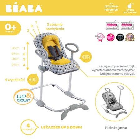 "Beaba ""Bouncer Up&Down III"" Leżaczek yellow Palm tree"