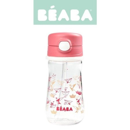 Beaba Butelka-bidon tritanowa ze słomką 350 ml Dark pink