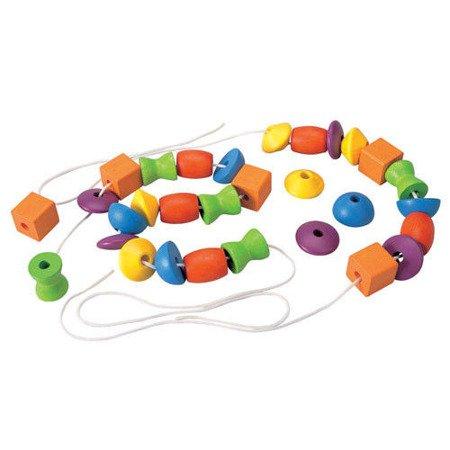Drewniana nawlekanka z figurami, Plan Toys PLTO-5353