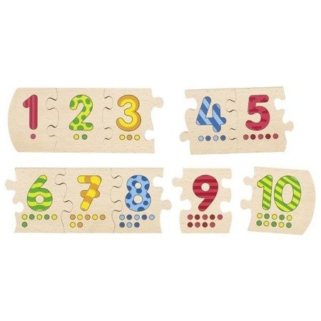 Drewniane puzzle Liczbowe, Cause GOKI-57012