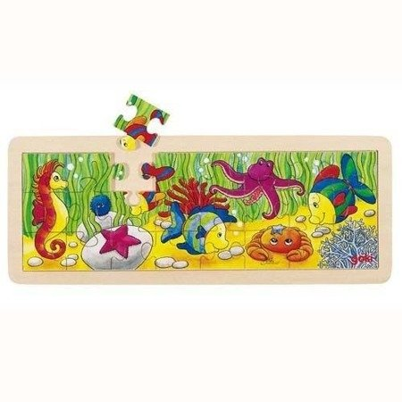 Drewniane puzzle motyw Podwodny Świat, Goki 57837