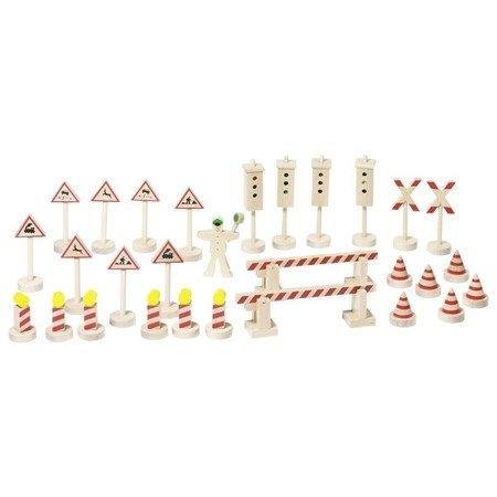 Drewniane znaki i sygnalizatory Goki Toys Pure