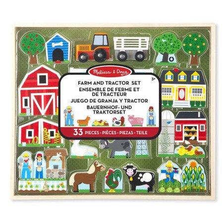 Drewniany Duży zestaw Farma, MD14800