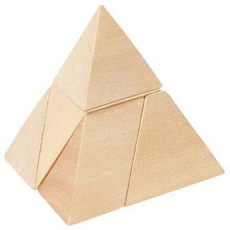 Drewniany Trójkąt - układanka logiczna, Goki HS 108