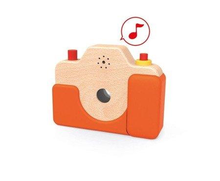 Drewniany aparat fotograficzny z dźwiękami, JANOD