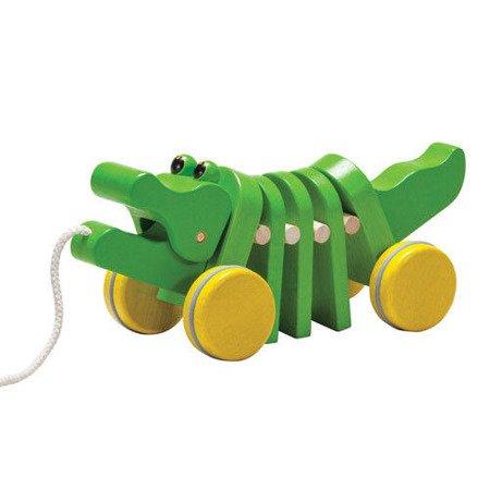 Drewniany krokodyl  do ciągnięcia, Plan Toys PLTO-5105