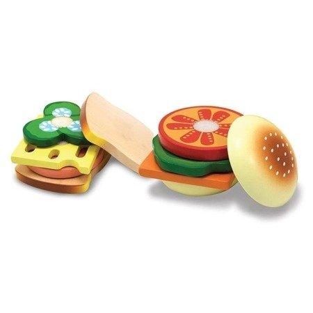 Drewniany zestaw do zrobienia Kanapek i Burgerów