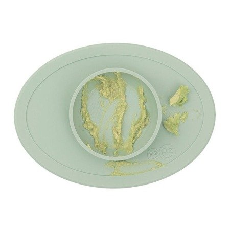 EZPZ Komplet pierwszych naczyń silikonowych First Foods Set pastelowa zieleń