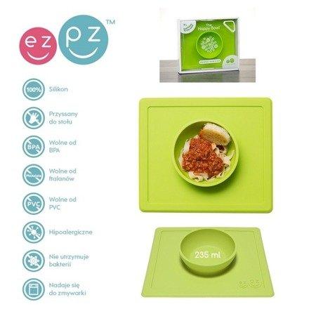 EZPZ Silikonowa miseczka z podkładką 2w1 Happy Bowl zielona
