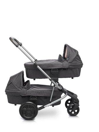 Easywalker Harvey Gondola do wózka – wersja dla bliźniąt Coal Black