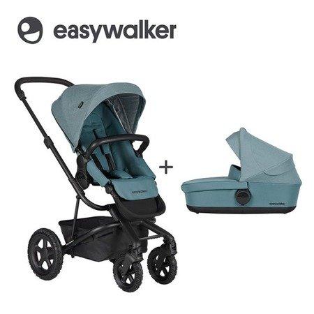Easywalker Harvey² All-Terrain Wózek głęboko-spacerowy Ocean Blue (zawiera stelaż, siedzisko z budką i pałąkiem)