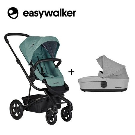 Easywalker Harvey2 Wózek głęboko-spacerowy Coral Green (zawiera stelaż, siedzisko z budką i pałąkiem)