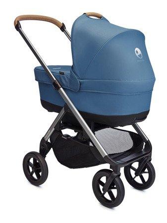 Easywalker Mosey+ Wózek głęboko-spacerowy Steel Blue (zawiera stelaż, siedzisko z budką i pałąkiem)