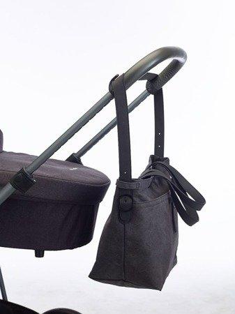 Easywalker Torba do wózka z akcesoriami płótno czarny denim uniwersalna
