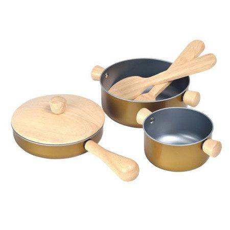 Garnki i akcesoria do zabawy w gotowanie, Plan Toys®