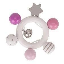 Grzechotka gwiazdka - różowy, szary, biały