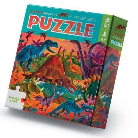Holograficzne puzzle 60 el. Olśniewające dinozaury