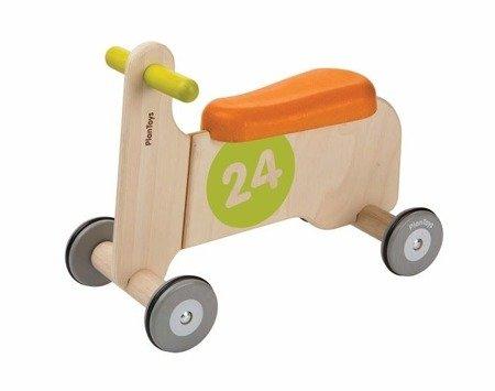 Jeździk Rowerek czterokołowy Plan Toys pomarańczowy