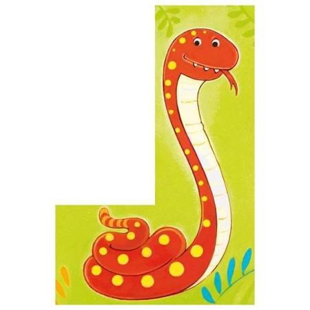 Klocki-układanki - Dzikie zwierzęta z Dżungli