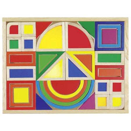 Kolorowe klocki z okienkami, GOKI-58620