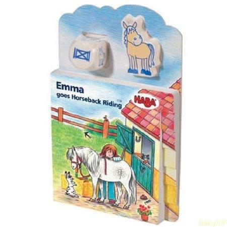 Książka 3w1 Emma jeździ na koniu ANG
