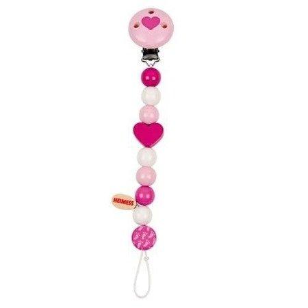 Łańcuszek do smoczka wzór różowy, Heimess735490