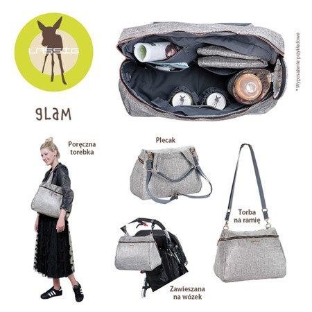 Lassig Glam Label Torba z akcesoriami Rosie Anthracite glitter