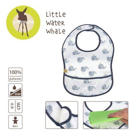 Lassig Lekki śliniak wodoodporny 6m+ Little Water Wieloryb