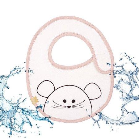 Lassig Śliniak bawełniany wodoodporny 0m+ Little Chums Mysz