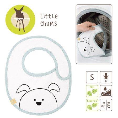 Lassig Śliniak bawełniany wodoodporny 0m+ Little Chums Pies