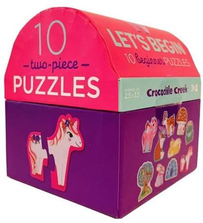 Let's Begin Puzzle Jednorożce, 2 elem.