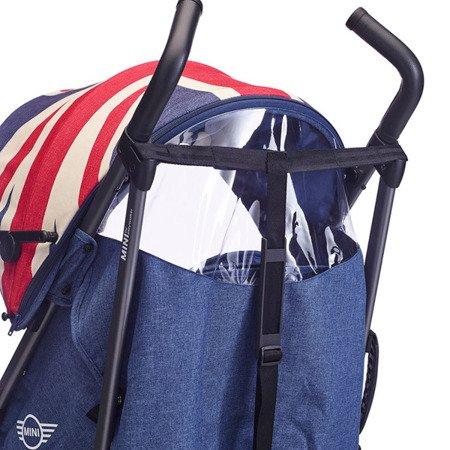 MINI by Easywalker Wózek spacerowy z osłonką przeciwdeszczową 6,5kg Union Jack Vintage