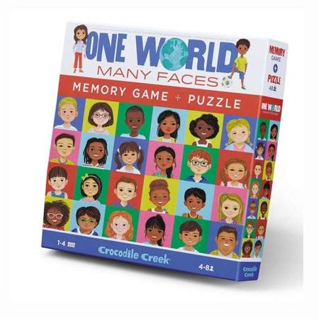 Memory i Puzzle Jeden świat - wiele twarzy 48 el.