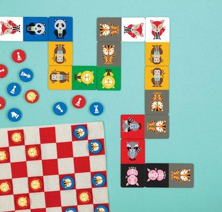 Mudpuppy Gra Domino w podróżnym opakowaniu Geometryczne Zwierzęta