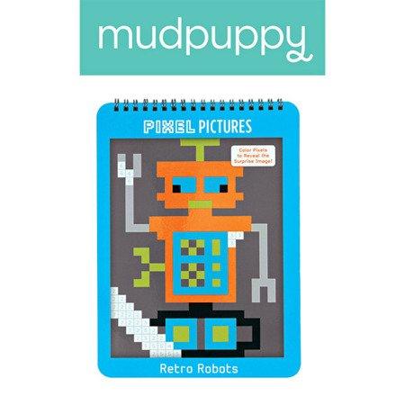 Mudpuppy Kolorowanka piksele Roboty 6+