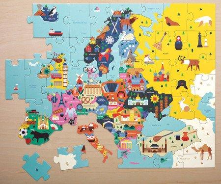 Mudpuppy Puzzle Mapa Europy z elementami w kształcie państw  5+
