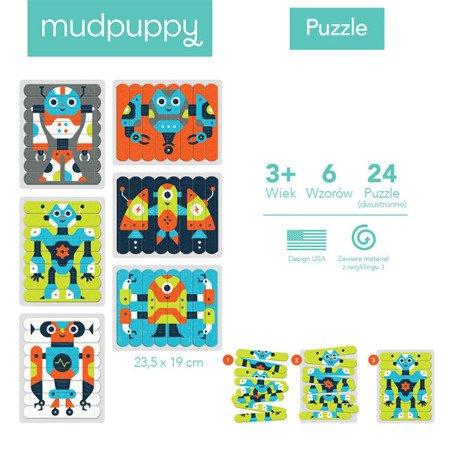 Mudpuppy Puzzle Patyczki Roboty 24 elementy 3+