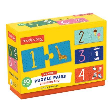 Mudpuppy Puzzle do nauki liczenia od 1 do 10 wiek 2+