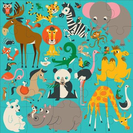 Mudpuppy Puzzle podłogowe Jumbo Zwierzęta Świata 25 elementów 2+