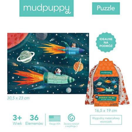 Mudpuppy Puzzle podróżne w woreczku Kosmos 36 elementów 3+