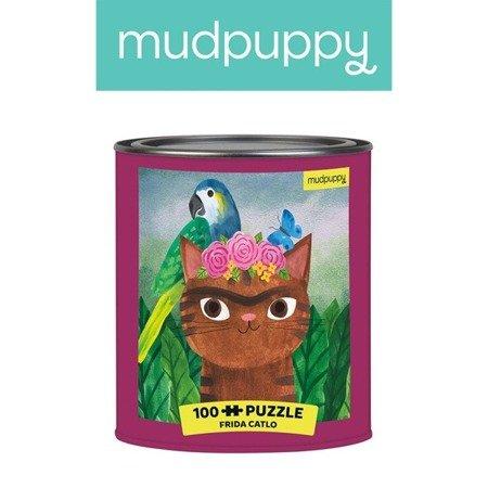 Mudpuppy Puzzle w puszce Kotoartyści Frida Catlo 100 elementów 6+