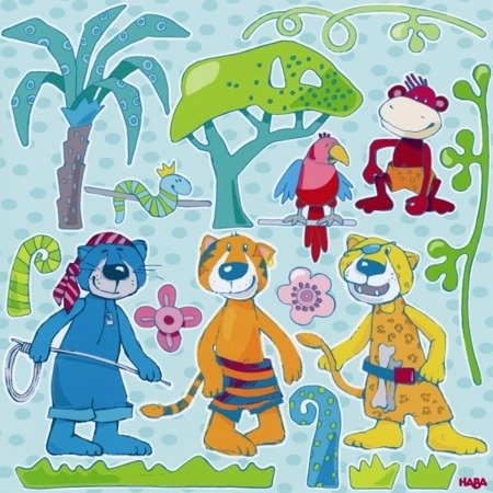 Naklejki na ścianę - Zwierzęta w dżungli