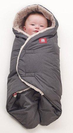 Otulacz rożek Babynomade Tenderness 0-6m Heather grey, Red Castle