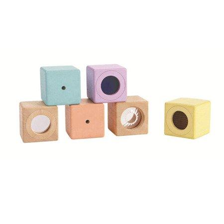 Pastelowe klocki interaktywne w woreczku, PT-5257