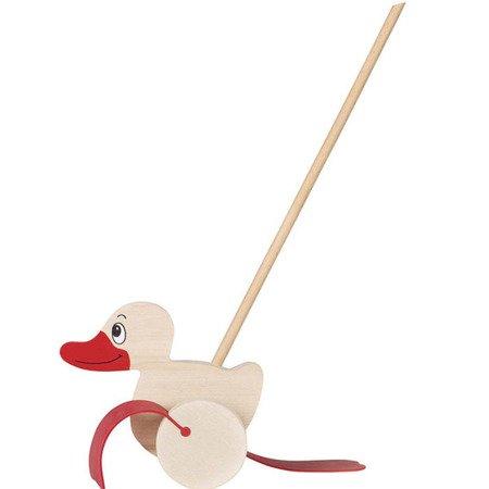 Pchacz Kaczka - zabawka do pchania, Goki