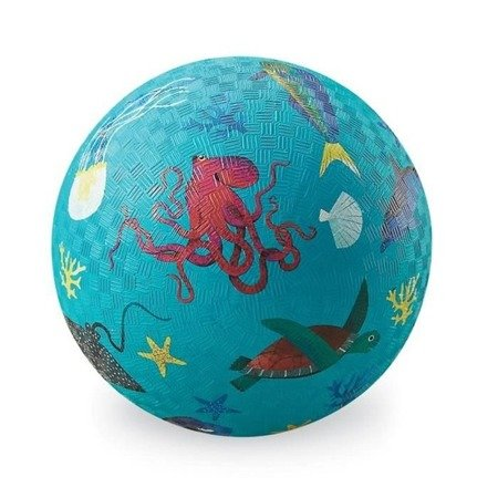 Piłka 13cm, wzór zwierzęta morskie, Crocodille Creek