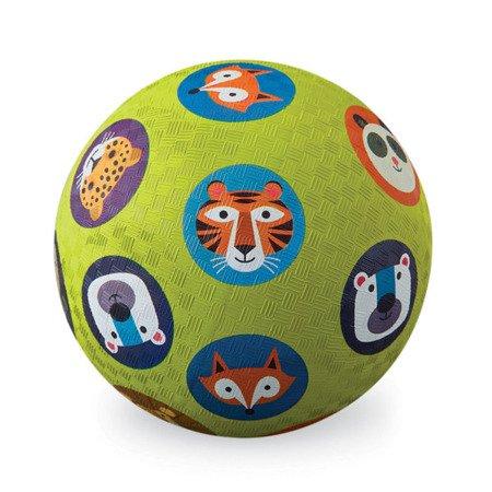 Piłka 7'', 18cm, wzór zwierzęta, Crocodile Creek